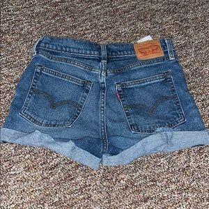 Multi Button Levi Denim Shorts